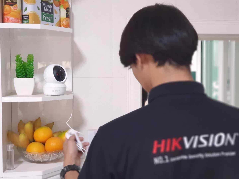 งานติดตั้งกล้องวงจรปิด wifi ร้าน Msc CCTV