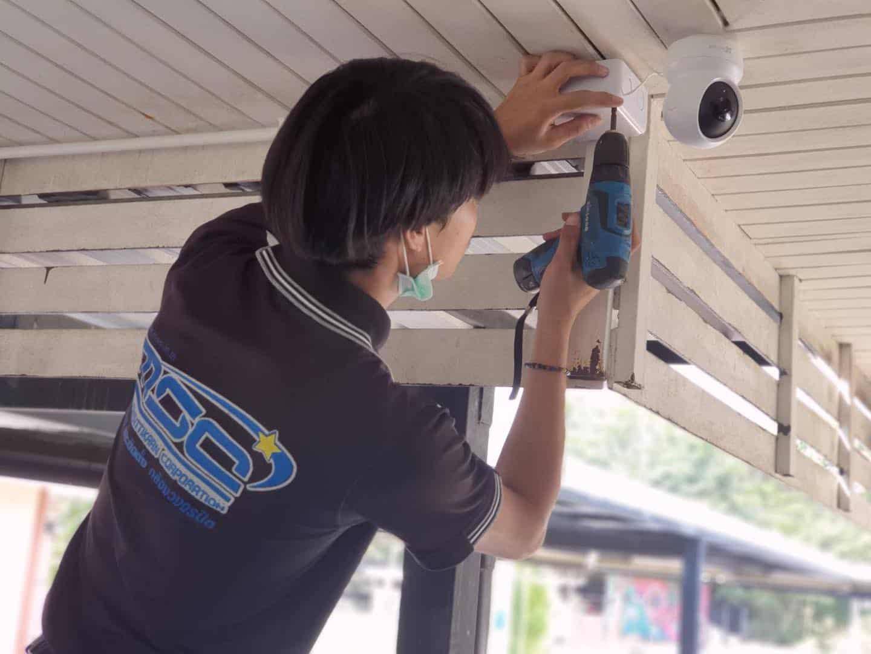 งานติดตั้งกล้องวงจรปิด ร้าน Msc CCTV